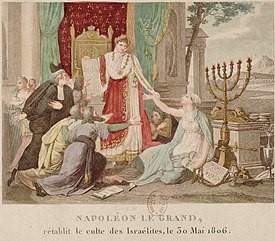 Эстамп «Наполеон эмансипирует евреев», 1806 г.
